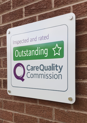 CQC Outstanding Wall sign